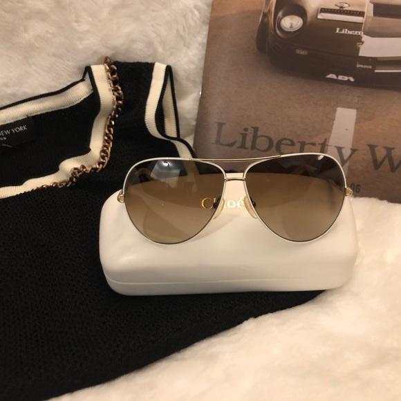 16b0f2fe55f6 Chloe Accessories - Chloe Aviator Sunglasses